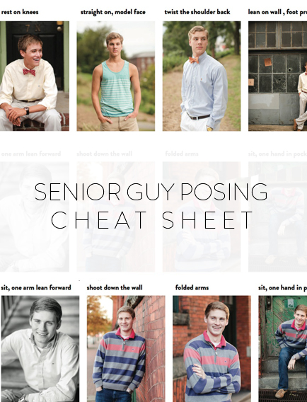 A Cheat Sheet for How to Pose Guys For Senior Portraits by Katelyn James Photography