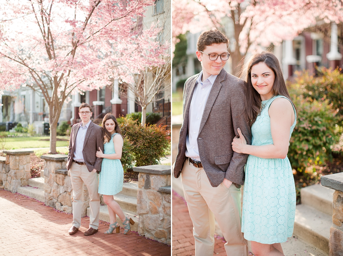 Cherry blossoms in washington DC |Capitol Hill Engagement Pictures by Katelyn James Photography