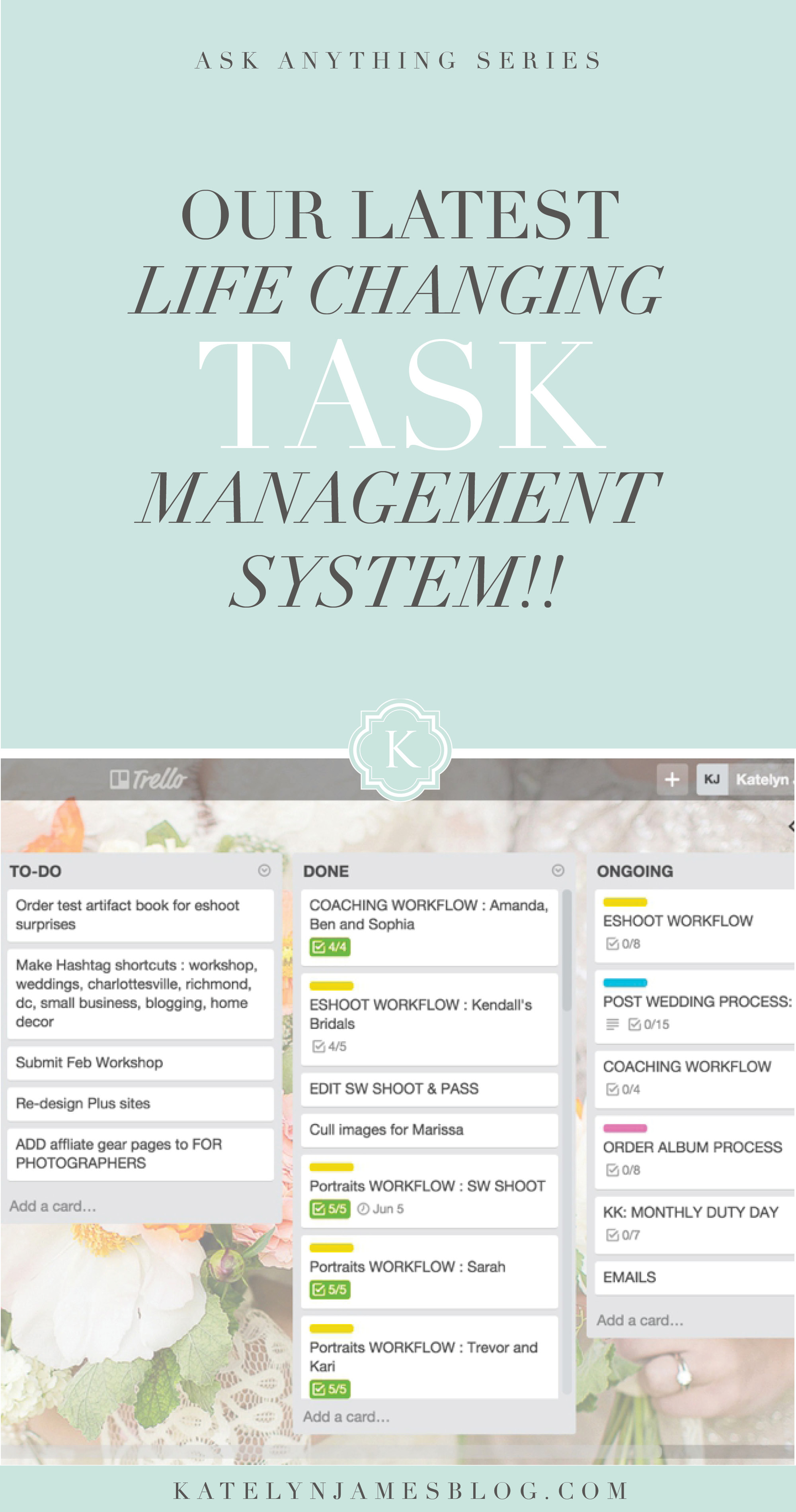 Our Latest Life Changing Task Management System by Katelyn James Photography