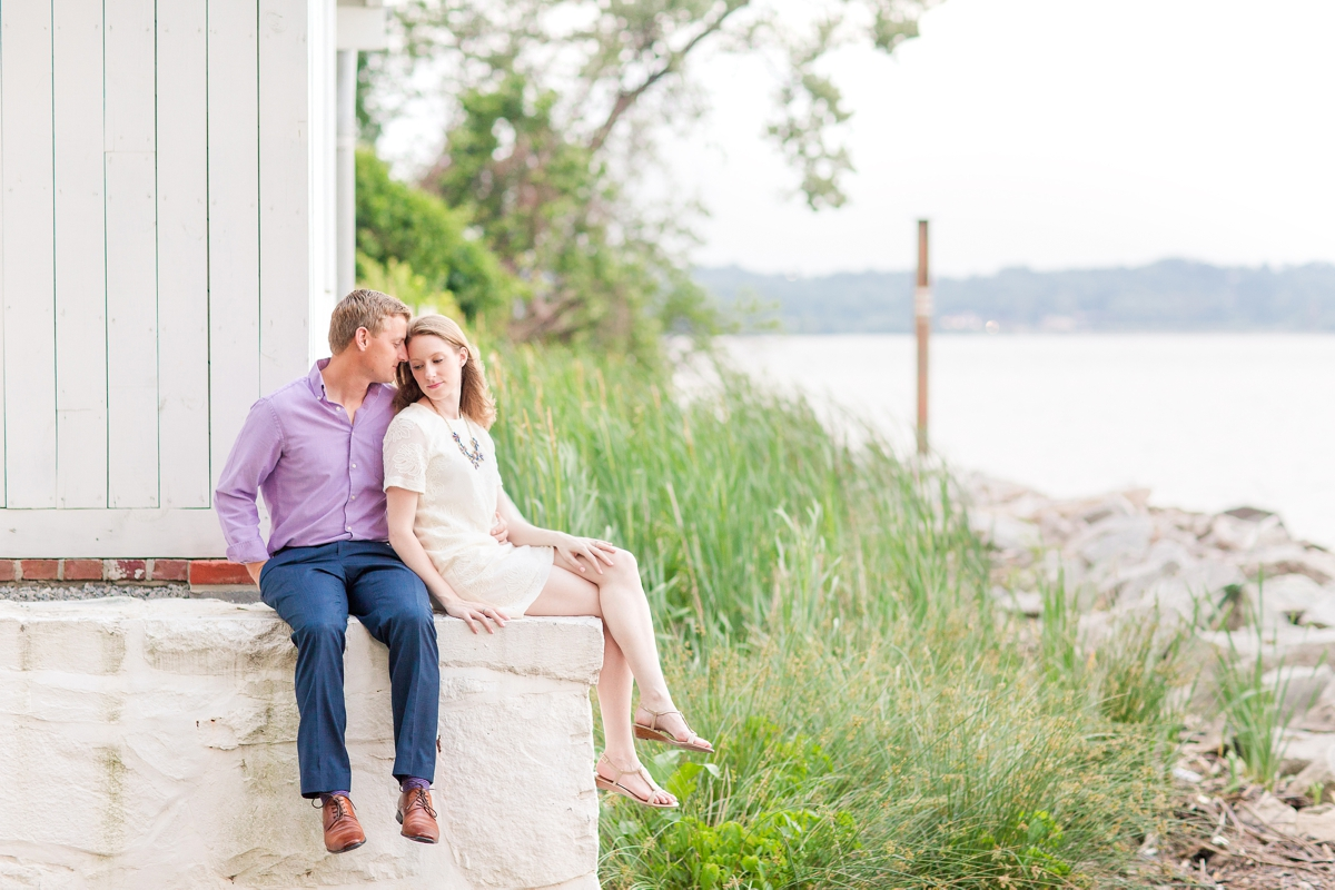 Downtown Alexandria Engagement Pictures on the Water with Lighthouse Photos_1542