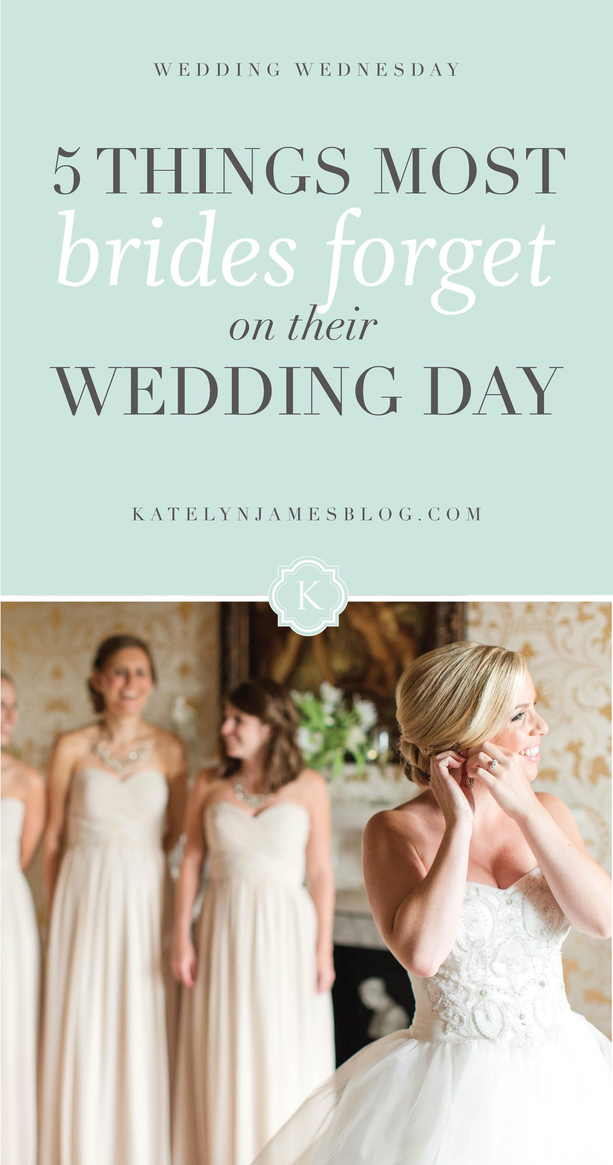 What Brides Forget on their Wedding Day. Bridal Resource. Wedding Help, Wedding Planning