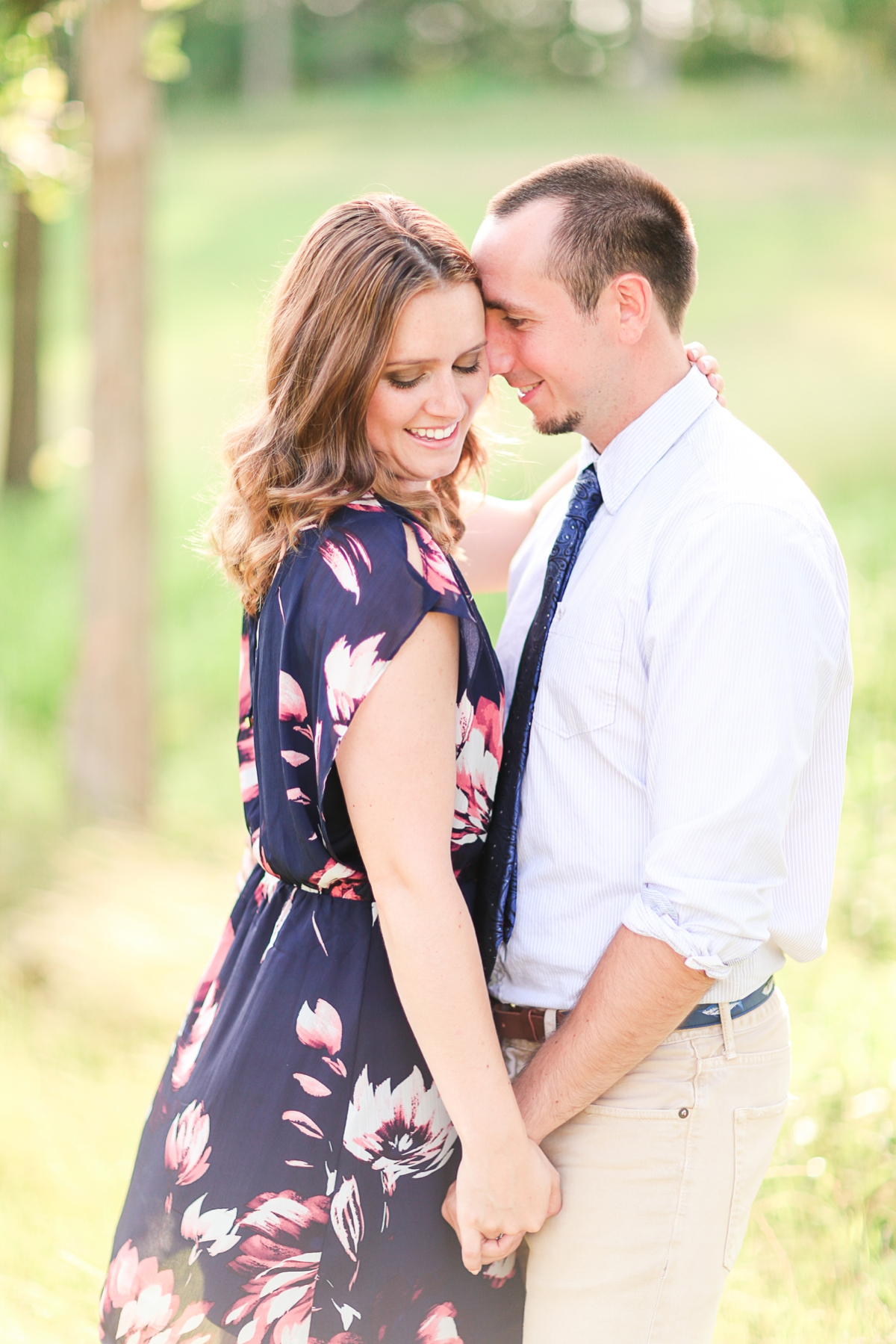 Summer Bull Run Winery Engagement Photos_1775