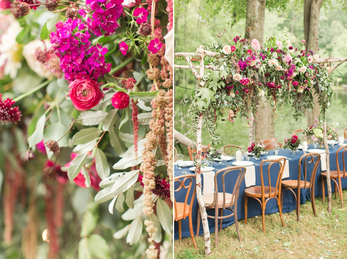outdoor dinner under the stars with floral chandelier_5656