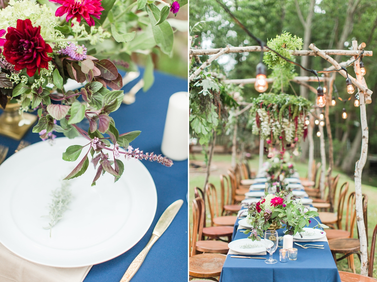outdoor dinner under the stars with floral chandelier_5657