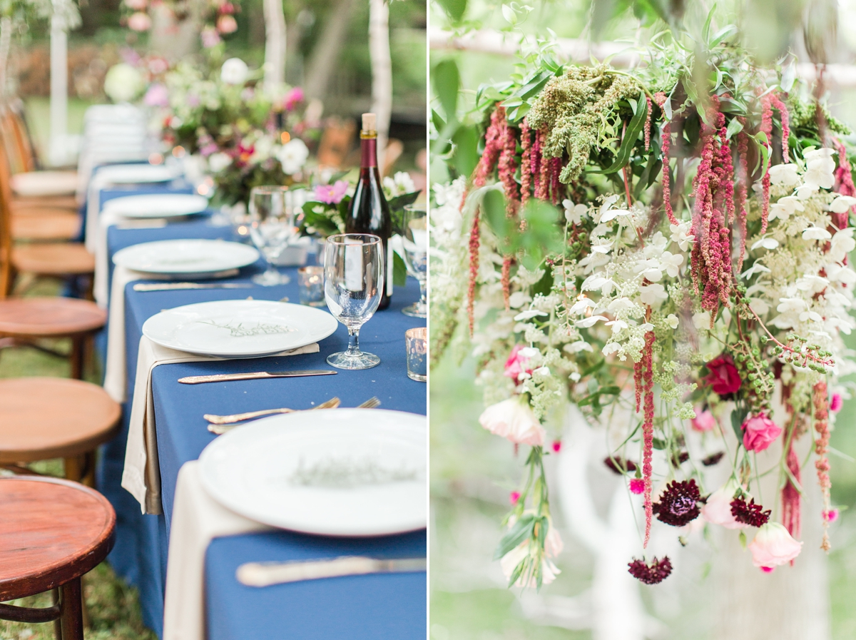 outdoor dinner under the stars with floral chandelier_5662