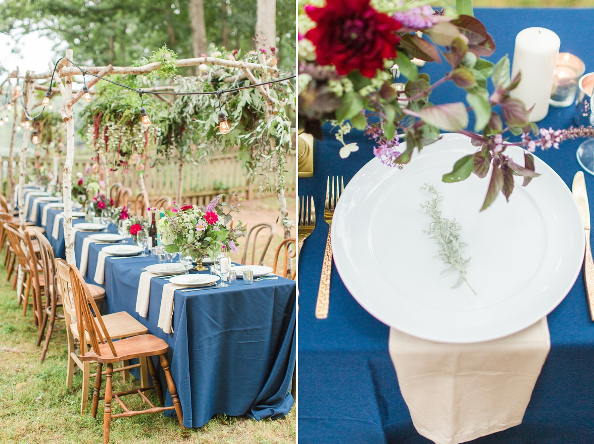 outdoor dinner under the stars with floral chandelier_5664
