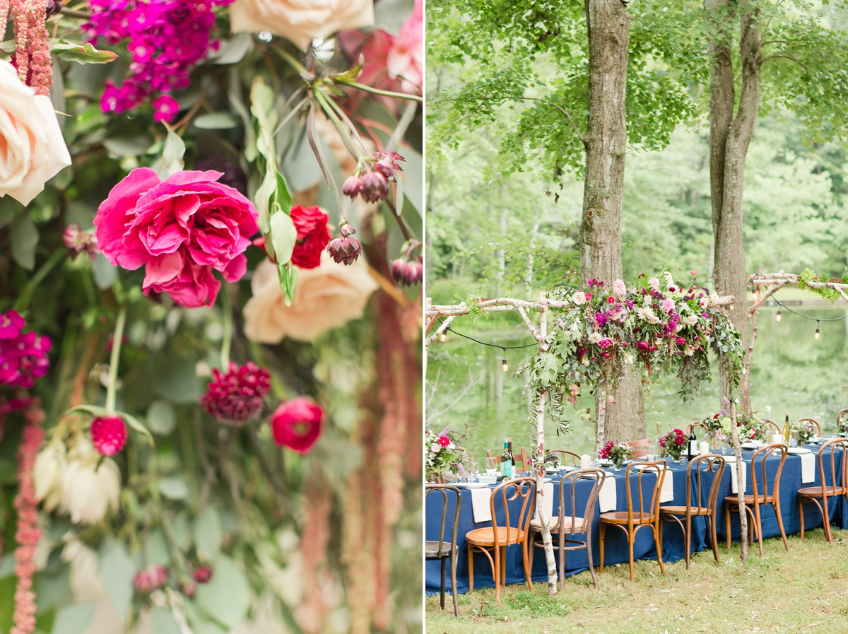 outdoor dinner under the stars with floral chandelier_5666