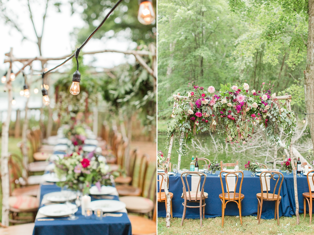 outdoor dinner under the stars with floral chandelier_5668