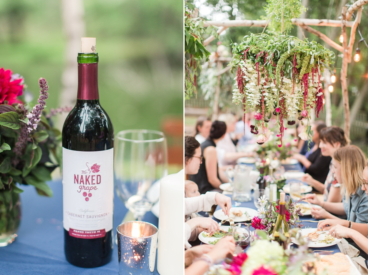 outdoor dinner under the stars with floral chandelier_5670
