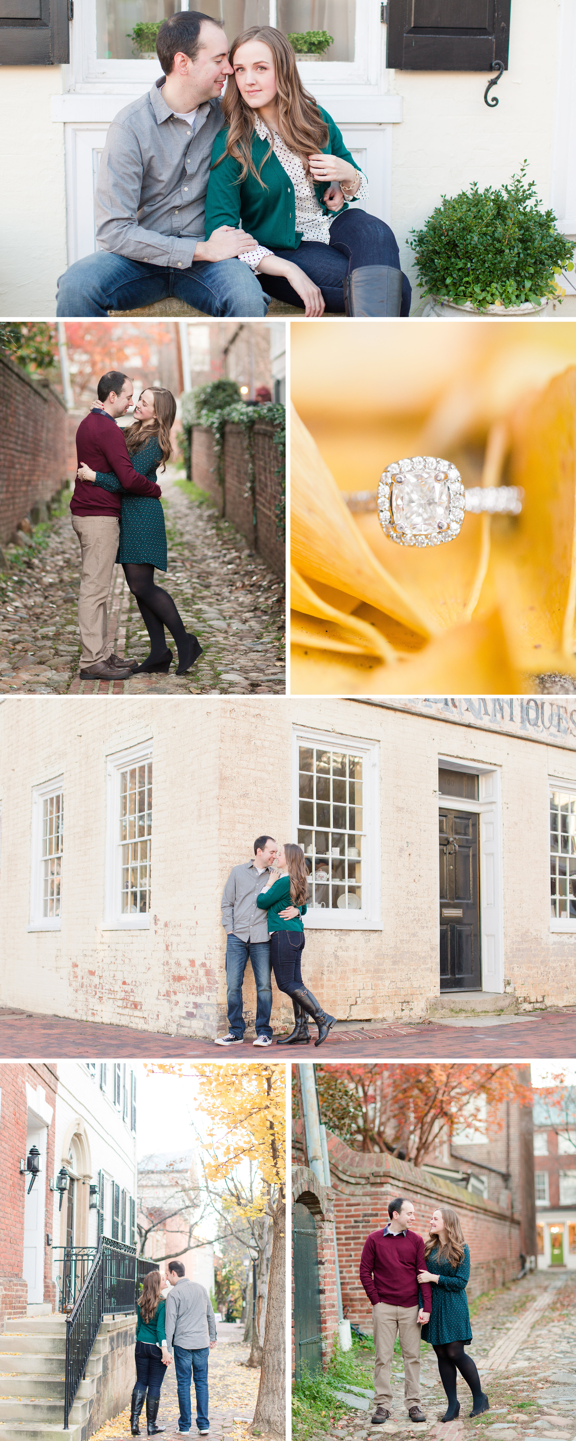 A Classic Old Town Alexandria Engagement Session by Katelyn James Photography