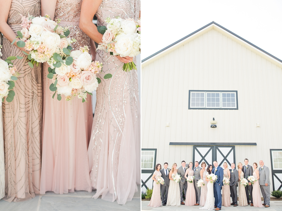 A Grey, Navy, Blush, Ivory and Lace Inspired Spring Wedding at Shadow Creek Weddings and Events by Katelyn James Photography
