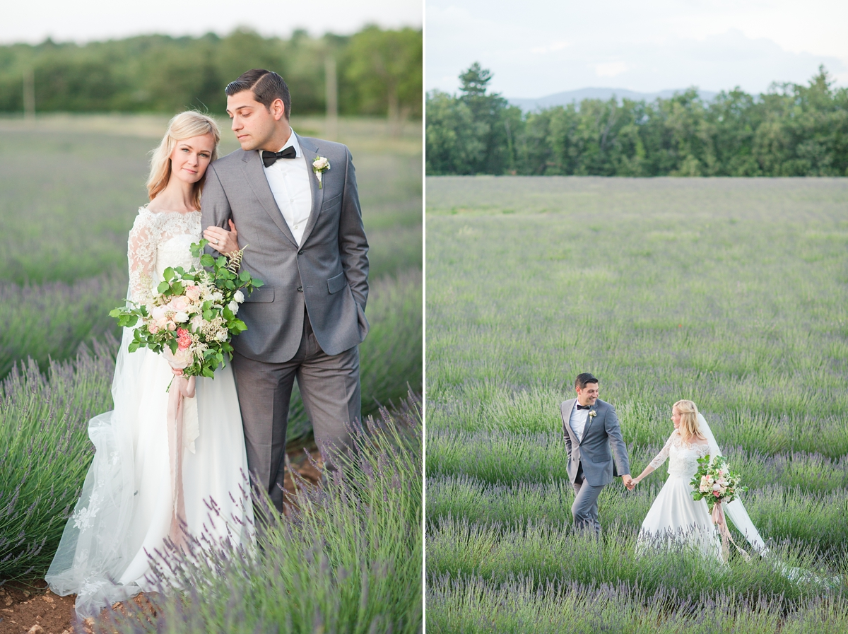 wedding portraits in frenchlavender fields in provence, Franve by photographer Katelyn James_1812