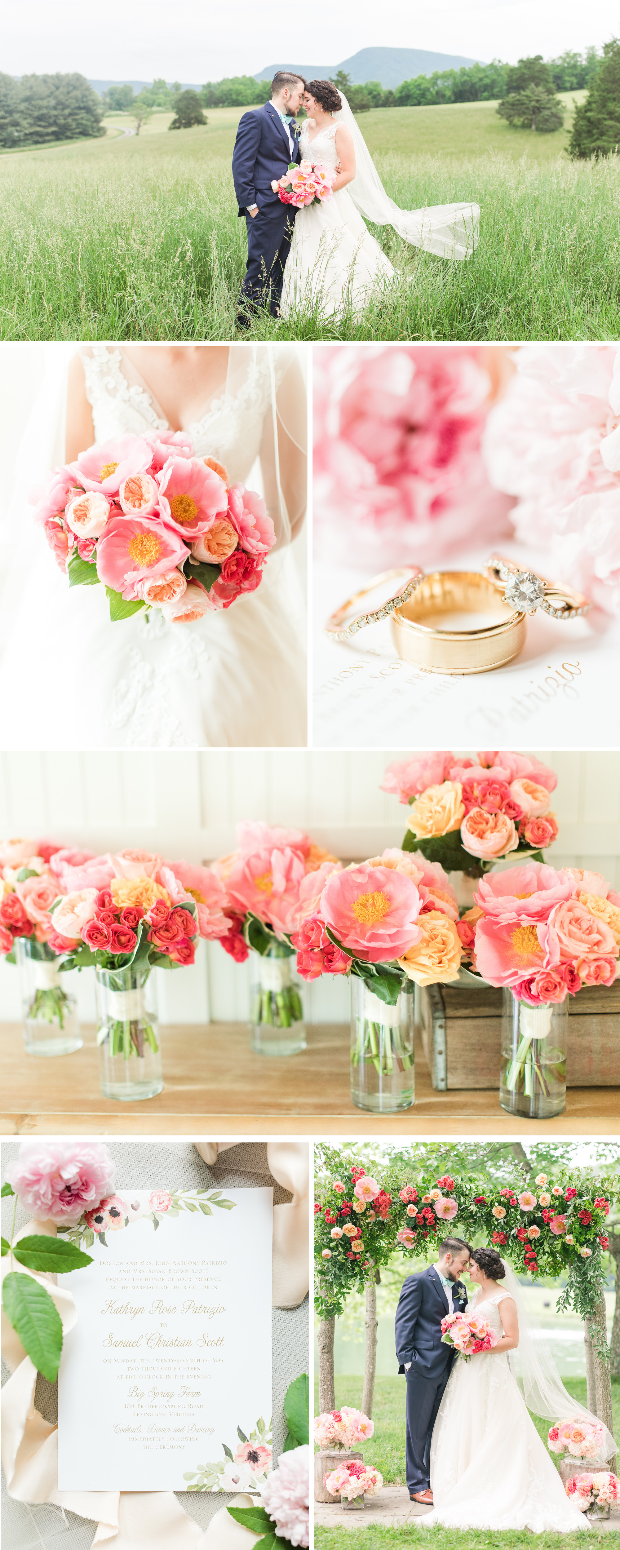 A Coral Inspired Summer Wedding at Big Spring Farm by Katelyn James Photography