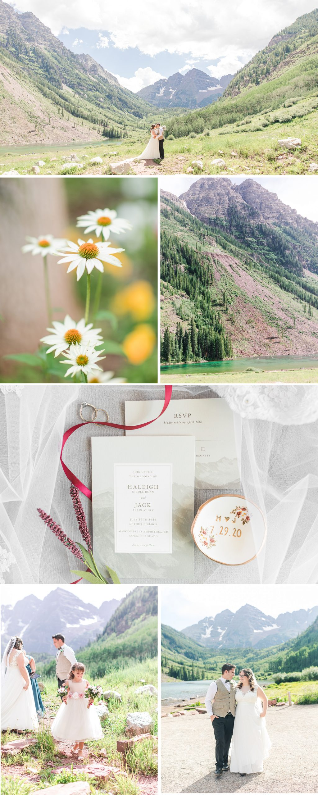 A Romantic, Intimate, Maroon Bells Destination Wedding in Aspen, Colorado by Katelyn James Photography